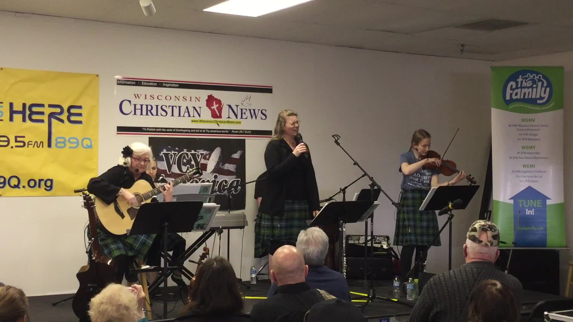 The MPK Christian Celtic Band at the 2017 Wisconsin Christian News Ministry Expo and Conference