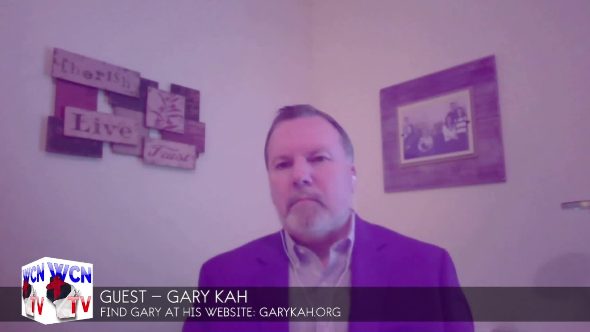 WCN-TV, May 6, 2020 with host Rob Pue and his guest Gary Kah