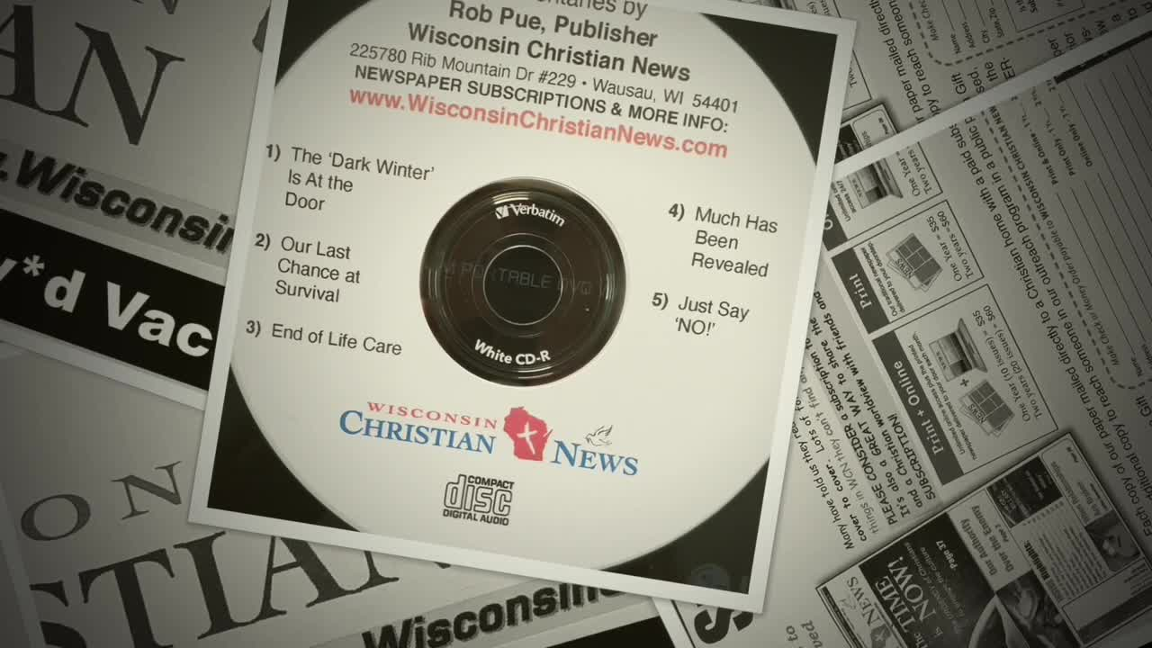 Wisconsin Christian News  Just Say No!